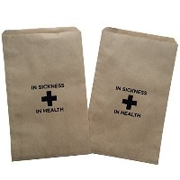 Design Corral Sickness and In Health Wedding Favor Bag 5 X 7.5 25 Pcs (Black) Wedding Reception...