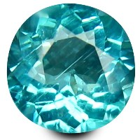 アパタイト ルーズジェムストーン 0.80 ct Round Shape (6 mm) 100% Natural Un-Heated Paraiba Blue Color Brazilian...