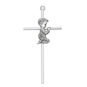 6 SILVER BOY WALL CROSS BABY INFANT CHRISTENING BAPTISM SHOWER by KeegansCatholicTreasures by McVan...