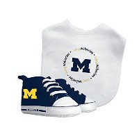 Baby Fanatic Bib with Pre-Walkers, University of Michigan by Baby Fanatic