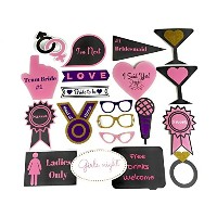 20Piece独身パーティー写真ブース小道具set- Real Glitter on Sturdy paperboard- Perfect for Girls Night OutまたはHen...