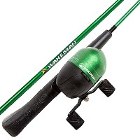 High Quality Spawn Series Kids Spincast Combo and Tackle Set - Green