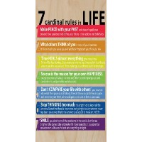 Seven Cardinalルールin Life Motivational – Birch Plywood木製印刷ポスター壁アート