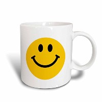 3dローズInspirationzStore Smiley Faceコレクション–Yellow Smiley Face–キュート従来Happy Smilie–1960年代ヒッピースタイル...
