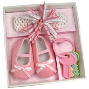 Stephan Baby Flapper Girl Headband and Shoe Gift Set Rose Pink Size 6-12 month by Stephan Baby ...