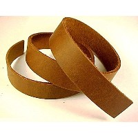 """3/ 8"""" x 96"""" Brown Oil Tanned Leather Strip 5–6オンスLeatherRush"""