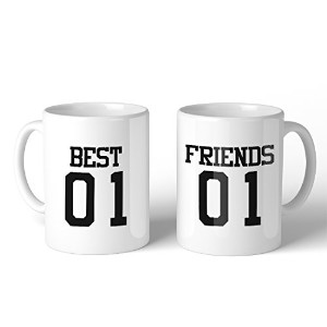 Best01 Friends02 11oz Ceramic Coffee Mugs BFF Matching Gift Sisters Gifts
