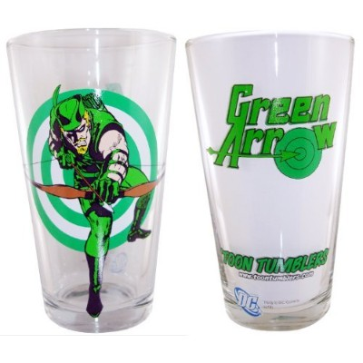 Green Arrow Toon Tumblers Pint Glass by PopFun Merchandising