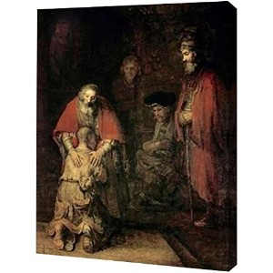 Return of the Prodigal Son by Rembrandt van Rijn – ギャラリーWrapped Gicleeキャンバスアートプリント – Ready To Hang...