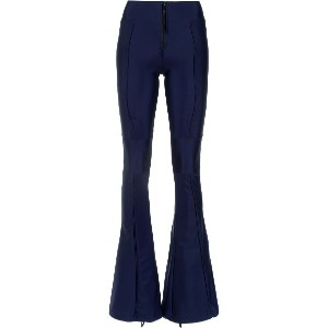Andrea Bogosian panels flared trousers - ブルー
