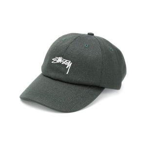 Stussy embroidered logo baseball cap - グリーン