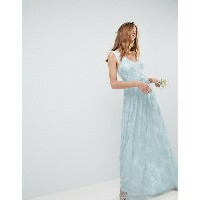 エイソス レディース ワンピース トップス ASOS DESIGN Design Bridesmaid Delicate Lace Sheer Insert Maxi Dress Pastel...