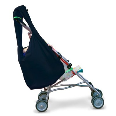 Hatch Things SureShop Reusable Shopping Bag That Clips On To Keep Strollers Standing, Black by Hatch Things