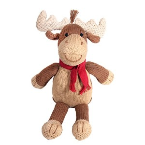 Zubels 100 % hand-knit Marley The Moose Plush人形Toyすべて天然繊維