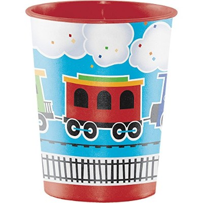 (All Aboard) - Creative Converting Plastic Keepsake Cups, All Aboard (12-Count)