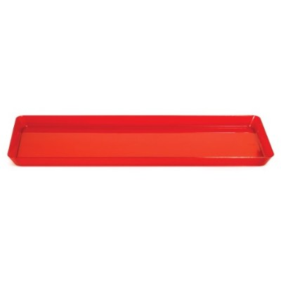 Creative Converting Rectangle Plastic Serving Tray, 39cm, Translucent Red