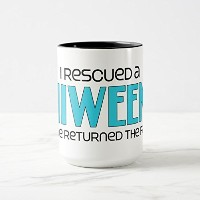 Zazzle I Rescued a Chiweenie (オス)犬Adoptionデザイン旅行マグ 15 oz, Combo Mug ブラック fb2dd7a5-7c7d-e913-faa9...