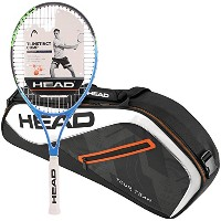 Head Ti。Instinct Comp pre-strungテニスラケットバンドルwith aツアーチームテニスバッグ