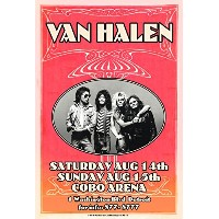 """Van Halen David Lee Roth at Cobo Hall Rock and Rollポスター13"""" x 19"""" ready for表示、フラット、袋詰め付属し、Boarded..."""