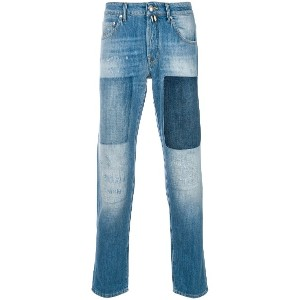 Jacob Cohen patchwork jeans - ブルー