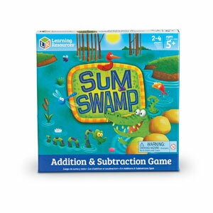 Learning Resources Sum Swamp(TM) Addition & Subtraction Game 算数ゲーム 計算スゴロク(足し算&引き算) LER 5052