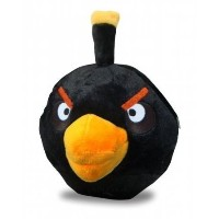Angry Bird Black 8 Inch Plush Soft Toy by Commenwealth [並行輸入品]