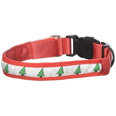 LED Dog Collar Christmas Tree Size Medium