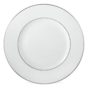 Lenox花柄ベールBone ChinaプラチナBanded 5-piece Place Setting Dinner Plate ホワイト 6381800