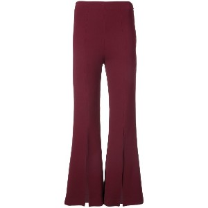 Roland Mouret flared slit trousers - レッド