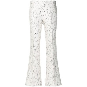 Giambattista Valli silk floral trousers - ホワイト