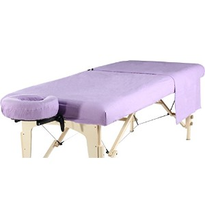 Mt Massage Universal Massage Table Flannel Sheet Set 3 in 1 (In 6 Colors) Table Cover, Face Cushion Cover, Table Sheet (Purple) by Mt Massage Tables