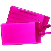 Travel Smart by Conair Jelly Luggage Tag ~ 2Pack; Magenta by Travel Smart