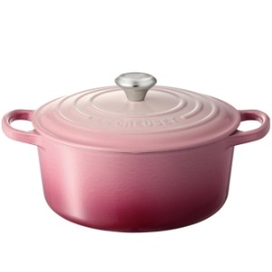 LE CREUSET/ル・クルーゼ シグニチャー ココット・ロンド 22cm ブーケピンク