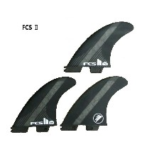 FCS2 FIN/エフシーエス2 FIRE WIRE/ファイヤーワイヤー FW PC CARBON BLACK LARGE トライフィン3本セット サーフボード用フィン 送料無料