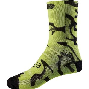 フォックス メンズ 陸上【8IN Trail Sock】Yellow / Black Print