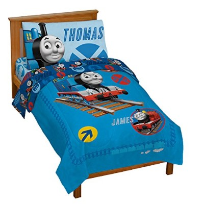 Thomas the Tank Engine 4 Piece Toddler Bed Set by HIT