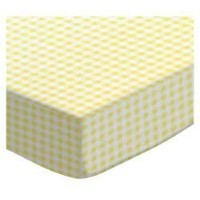 SheetWorld Fitted Pack N Play (Graco Square Playard) Sheet - Yellow Gingham Jersey - Made In USA by...