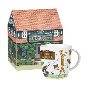 Queen At Your Leisure Collection Golfer Mug - Gift Boxed by Churchill China