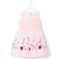 Simonetta embroidered floral dress - ピンク&パープル