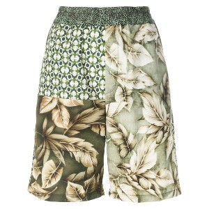 Pierre-Louis Mascia floral patch-work shorts - マルチカラー