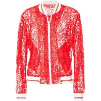 Ainea lace bomber jacket - レッド