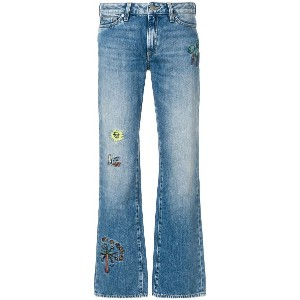 Mira Mikati embroidered detail bootcut jeans - ブルー