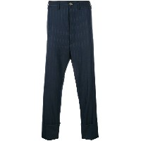 Vivienne Westwood striped cropped trousers - ブルー