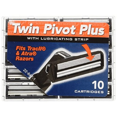 Personna Twin Pivot Plus with Lubricating Strip 10 Blades (5 Pack) by Personna