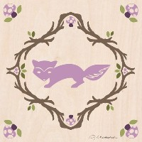 Oopsy Daisy Enchanted Forest Fox by Jenクリストファー・キャンバス壁アート、10by 10-inch