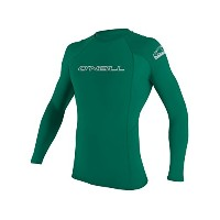 O ' NeillメンズBasic Skins Long Sleeve Rashguard L Deep Green ( 3342is )