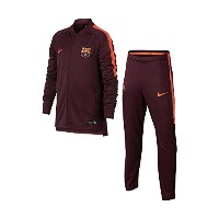 2017-2018 Barcelona Nike Squad Knit Tracksuit (Night Maroon) - Kids
