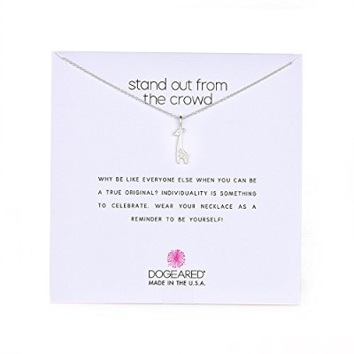 "[ドギャード]Dogeared Stand Out From The Crowd, Silver Giraffe Chain Necklace, 16""+2"" Extender ネックレス..."