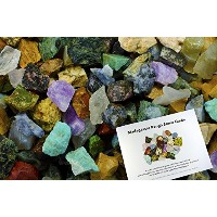 Hypnotic Gems : 3lbs手袋詰め28ストーンタイプマダガスカルMix with 30ページストーン識別ガイド–Natural Raw Rocks For Cabbing、カット...