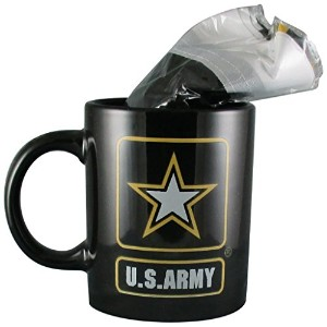 """US Army Star Coffee Mug / Cup With 12"""" x 18"""" US Army Star Double Sidedポリエステルフラグ–Gift Boxed"""